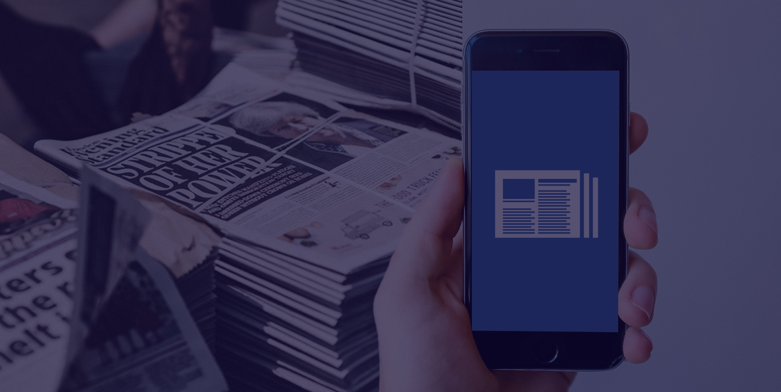 newspapers and smartphone news app