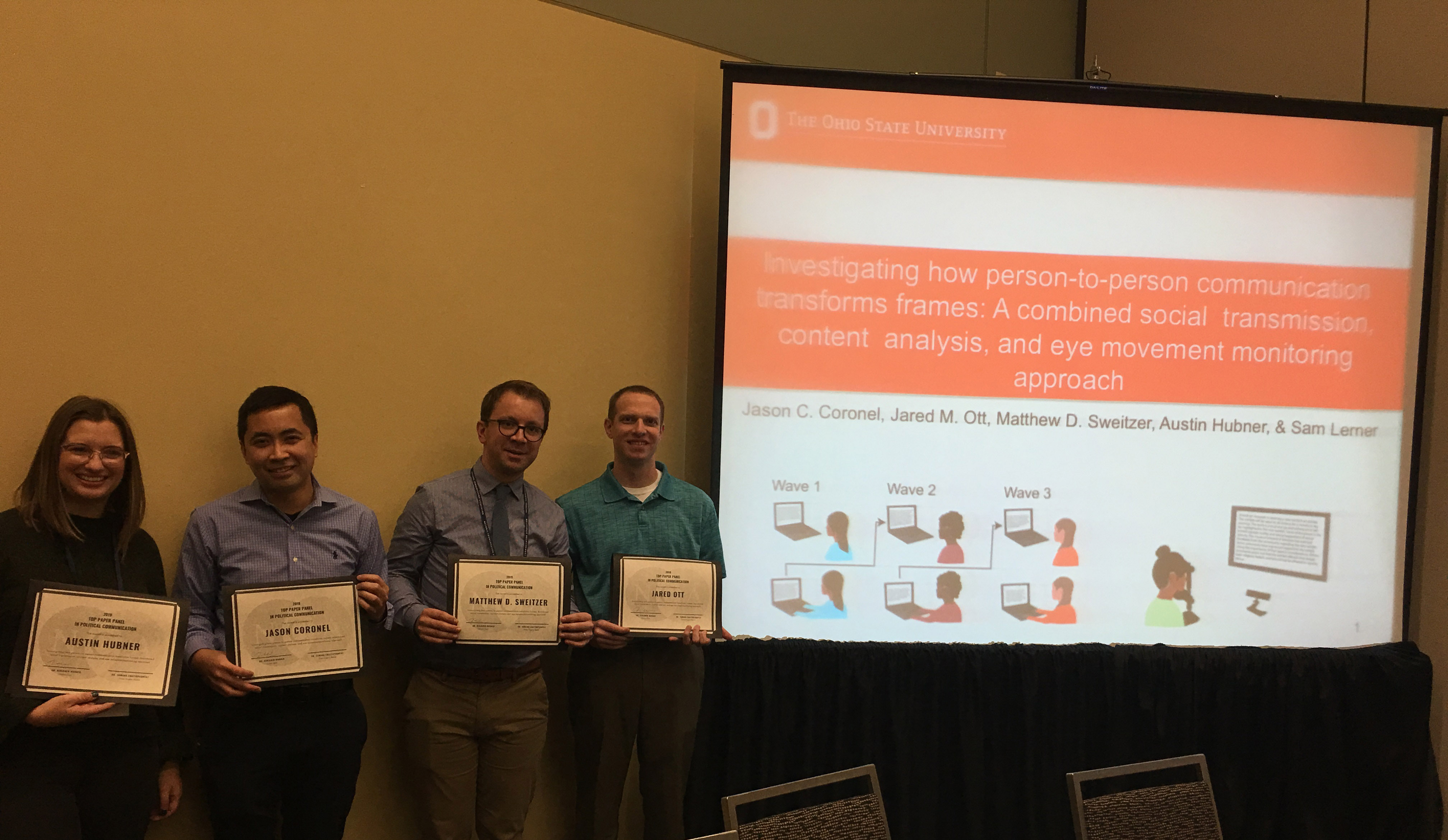 We won a Top Paper Award at NCA.